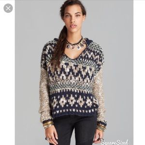 Free People Pullover Knitted Hoodie